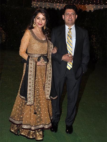 Madhuri Dixit at Trishya Screwvala's wedding