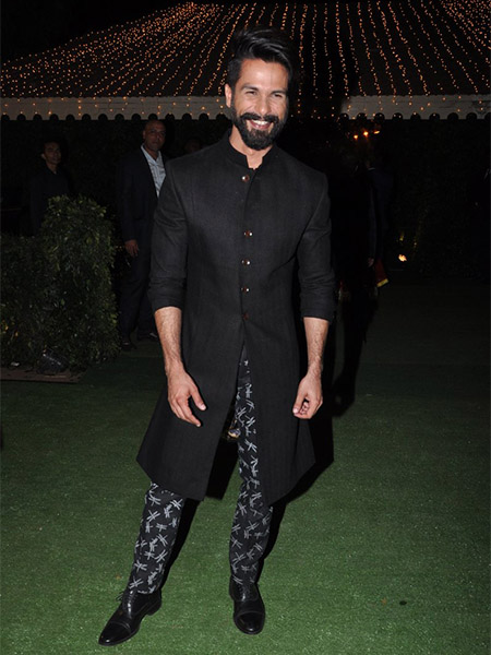 Shahid Kapoor at Trishya Screwvala's wedding
