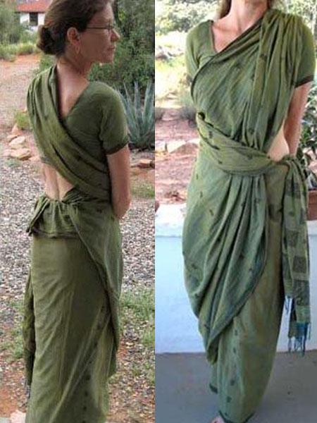 pinkosu saree draping styles