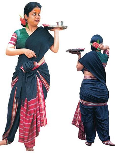 bootheyara saree draping styles