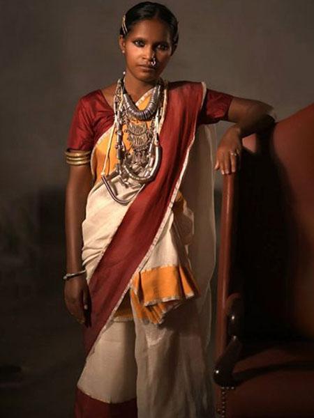santhal saree draping styles