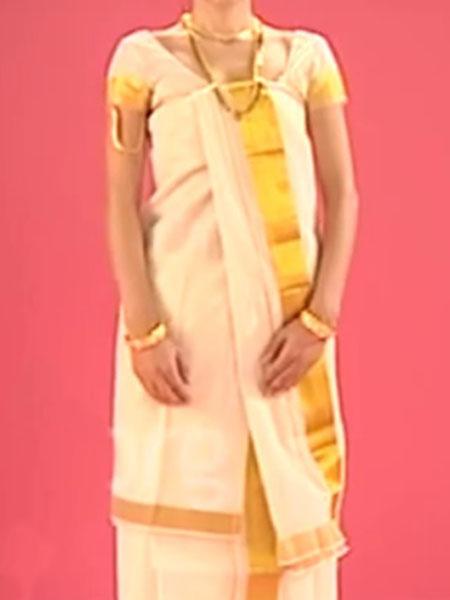 Namboothiri saree draping styles