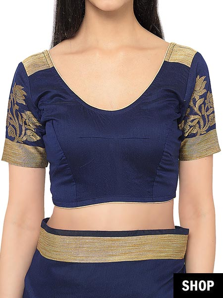 7 Saree Blouse Designs For Women With A Small Bust The Ethnic Soul