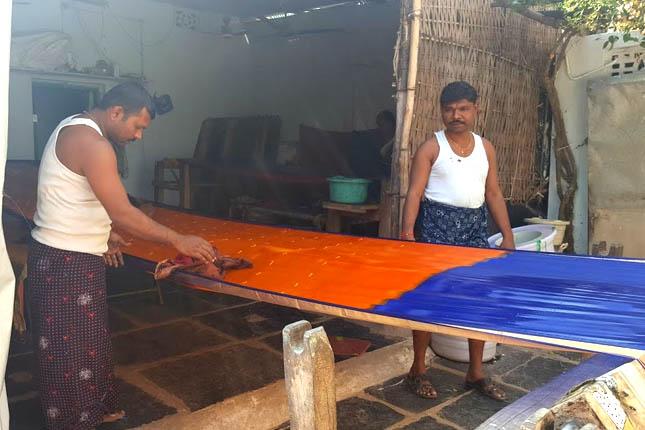 gadwal sarees weaving process