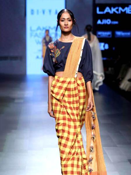 designer saree checks