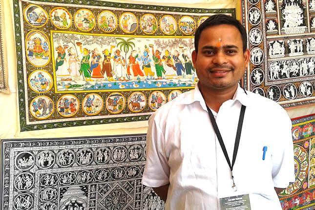 Pattachitra artist Akshaya Kumar Bariki