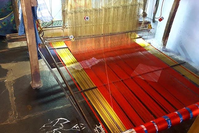 dharmavaram sarees weaving