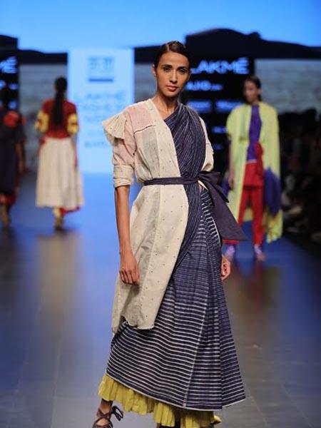 designer saree indigo