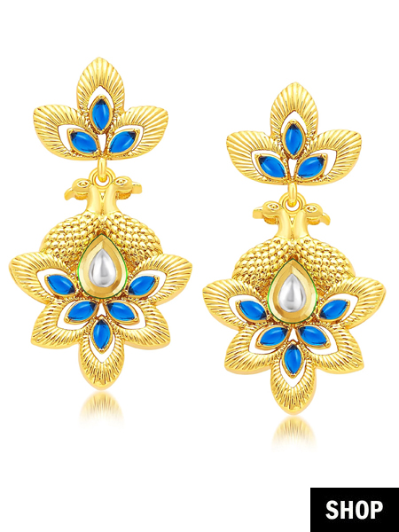 earring gold jewellery balyck shop mirvana