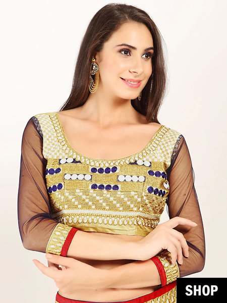 Golden embroidered blouse