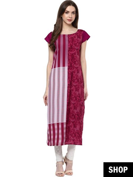 Pink kurti under 599