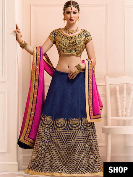 Bangalore silk designer lehenga