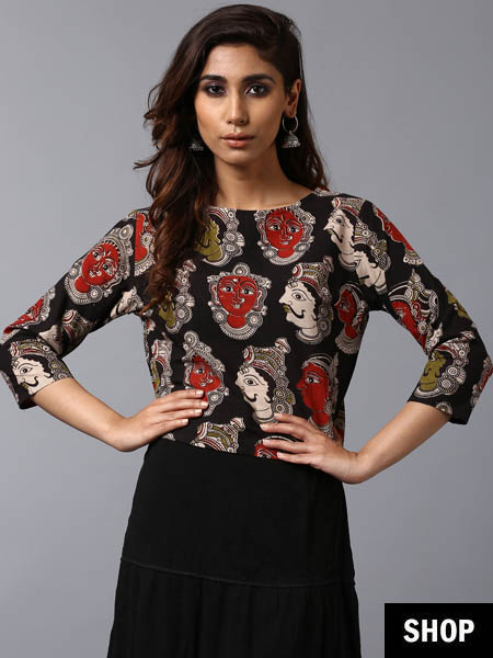 Kalamkari crop top