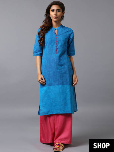 Shaded blue kurti