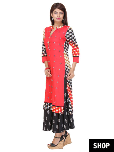 Fit and flare kurti