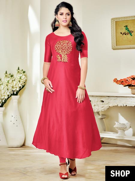 Pink party wear salwar suit