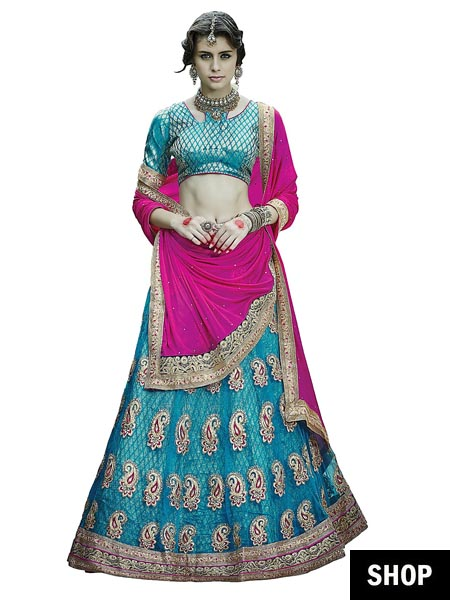 Lehenga for short bride