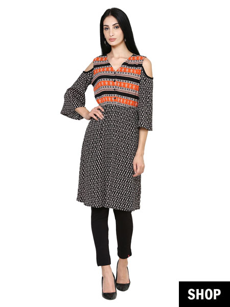 Cold shoulder kurti
