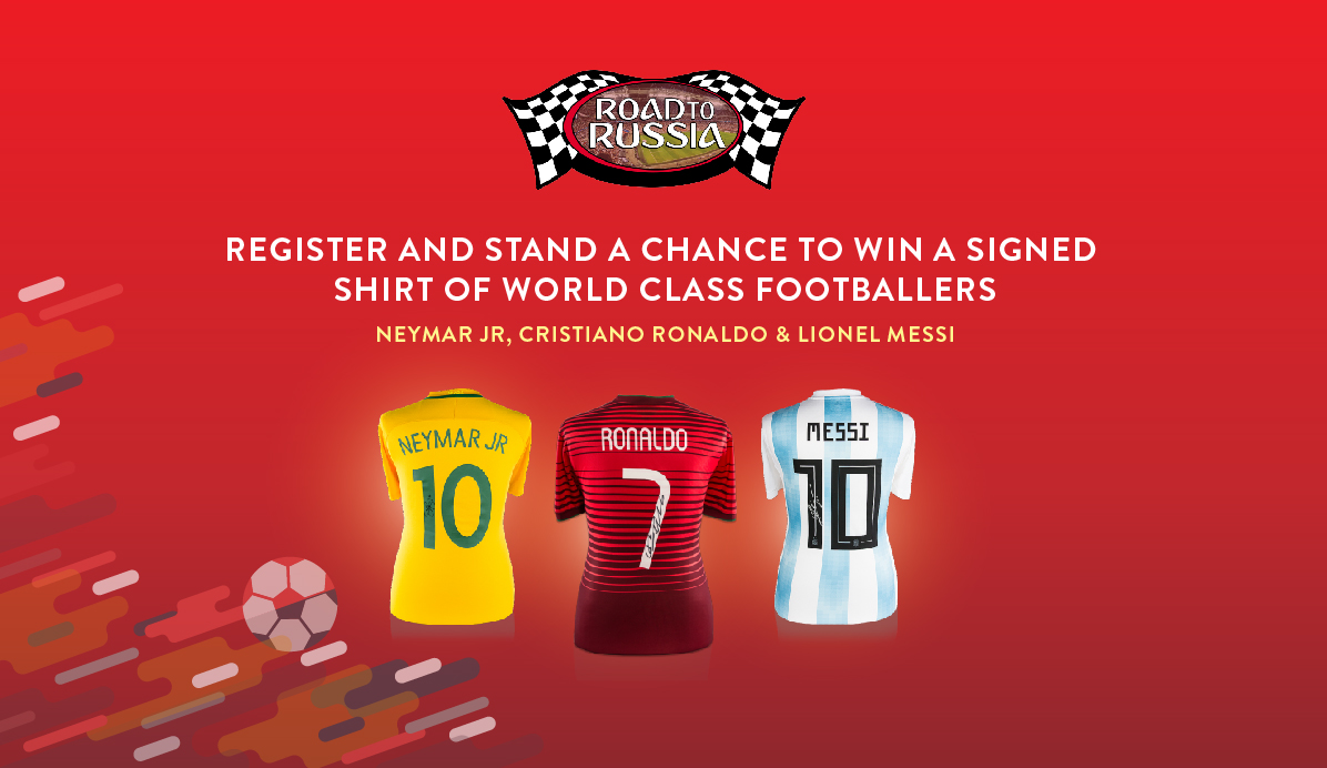 "X-1R ""Road to Russia"" Contest: Join & Win Jerseys Signed by Neymar, Ronaldo and Messi!"
