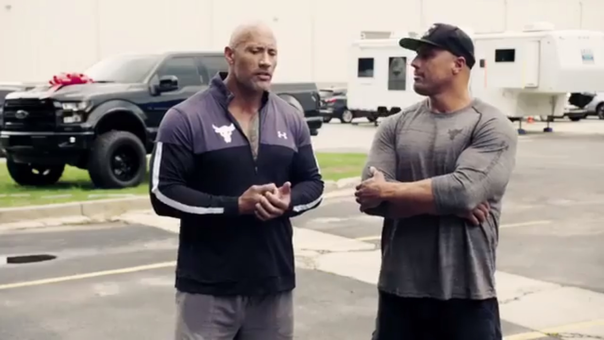 Dwayne 'The Rock' Johnson Surprises Long-Time Stunt Double with Souped-Up Ford F-150