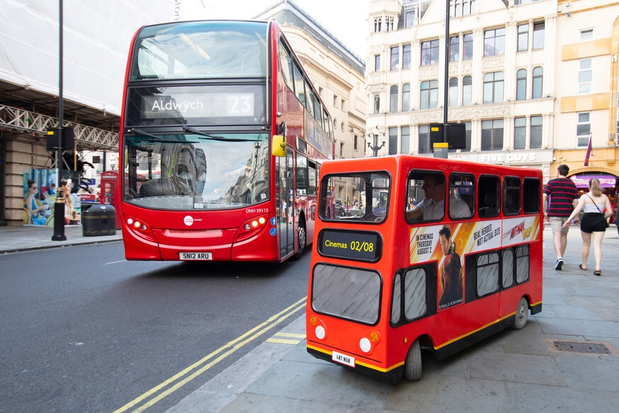 Miniature Bus Takes to the Streets of London