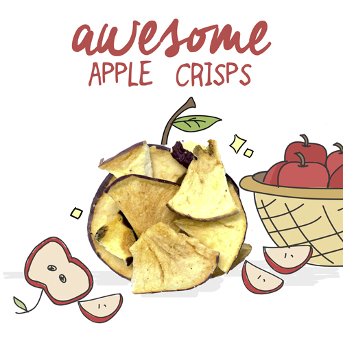 Awesome apple crisps 500x500px