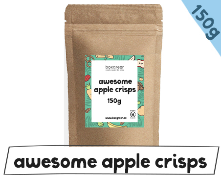 Apple crisps kraft bags 150g