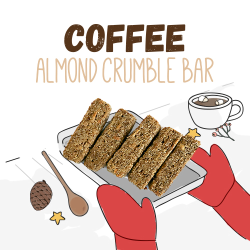 Coffee almond crumble bar 24g 3bbfe5