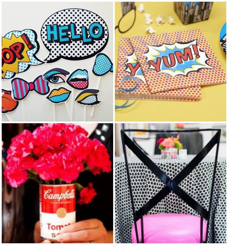 Ideas-para-decorar-boda-pop-art