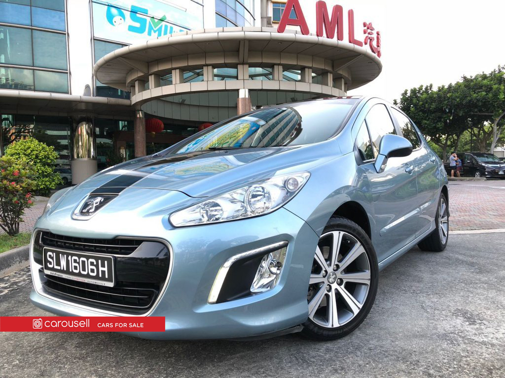 Buy Used Peugeot 308 1.6A Turbo Allure Glass Roof Car in Singapore ...