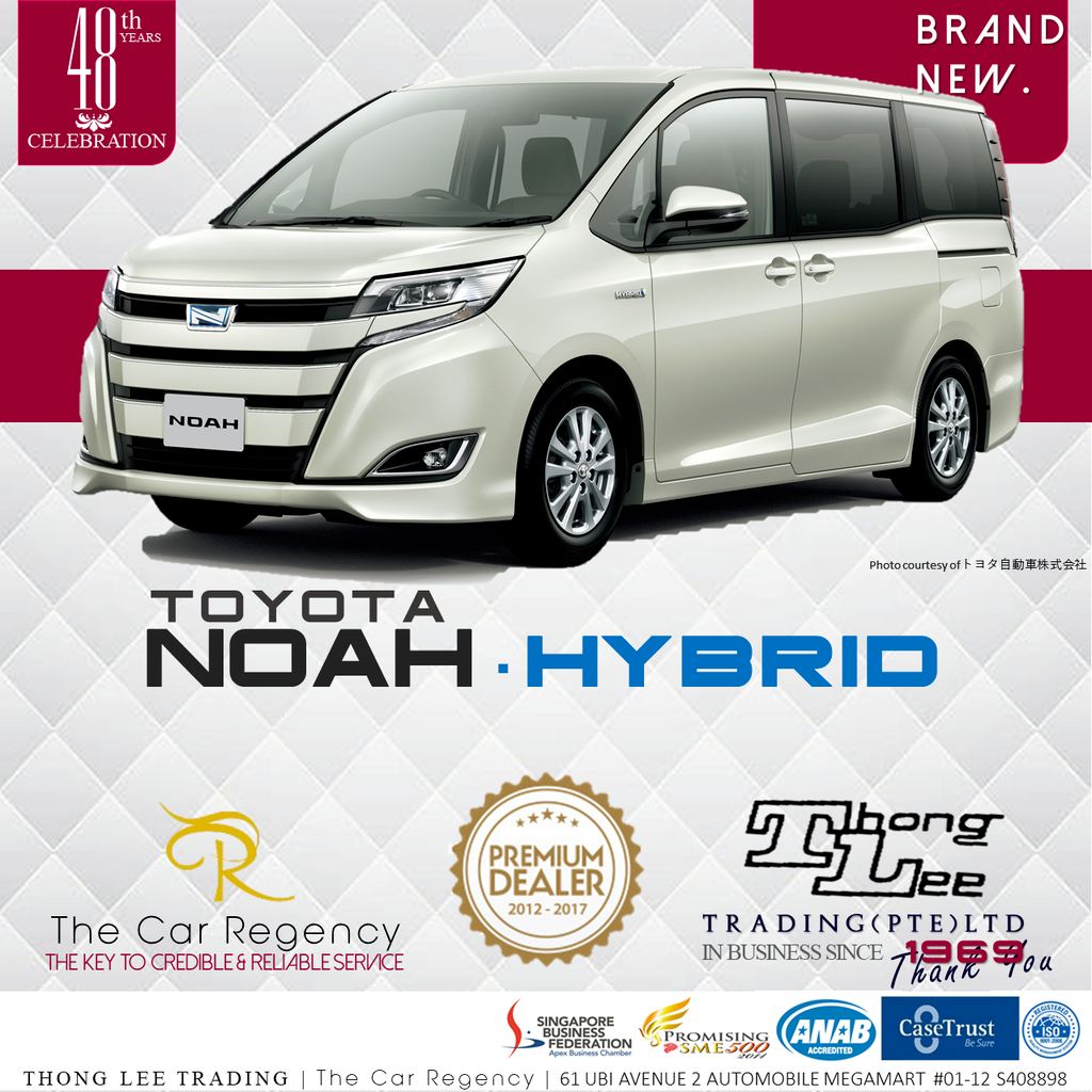 Buy Used Toyota Noah 1 8 G Hybrid New Cars Voxy Car In Singapore