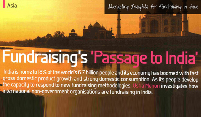 Marketings Insights for Fundraising in India Usha Menon