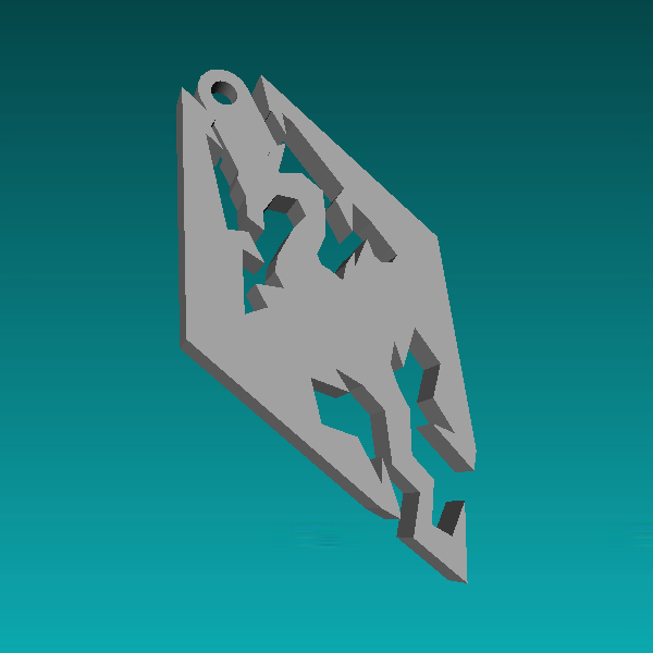 Skyrim Logo Keychain
