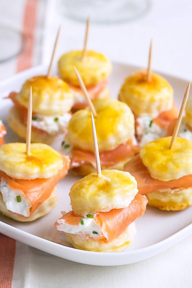 eatwell101 http://www.eatwell101.com/smoked-salmon-puff-pastry-bites-recipe