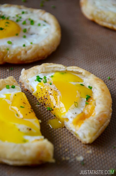 justataste http://www.justataste.com/cheesy-puff-pastry-baked-eggs-recipe/