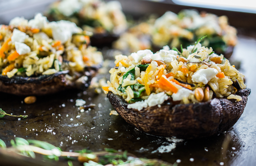 thehangingspoon http://thehangingspoon.com/stuffed-portobello-mushrooms-with-wild-rice/
