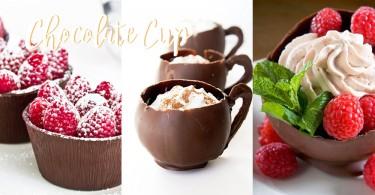 3個步驟製作可以吃掉的朱古力杯!在家也能做到漂亮甜品杯啦!