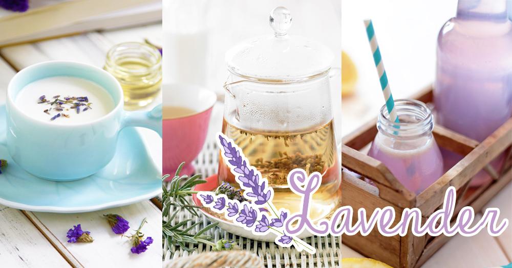晚上喝一杯就能好眠了~療癒系的6款薰衣草特飲為你減壓又能抒緩頭痛!