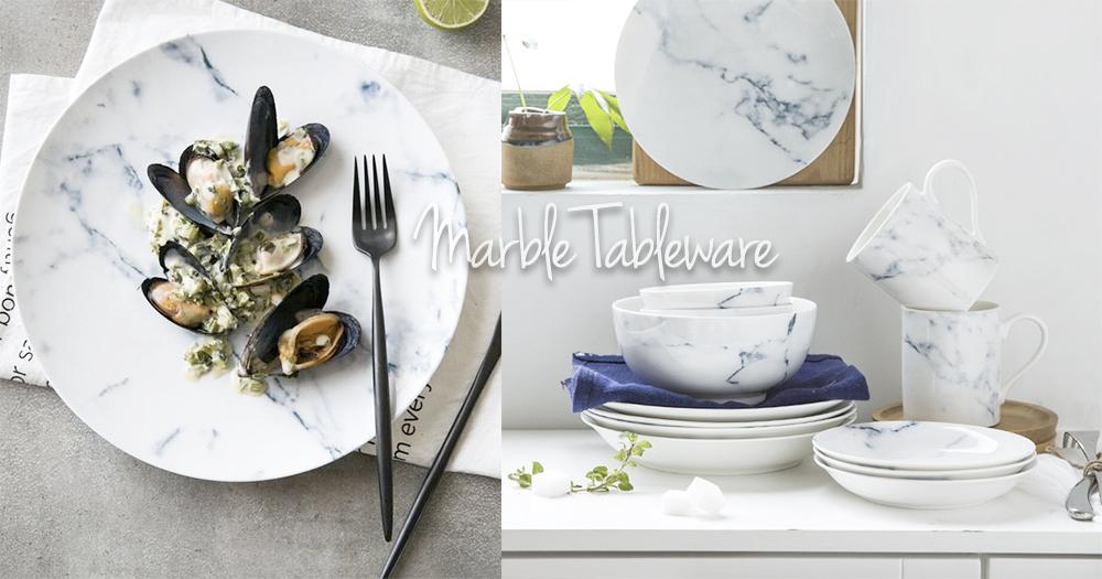 家裡沒有大理石餐桌也沒關係!廚房裡的雲石紋單品大集合!