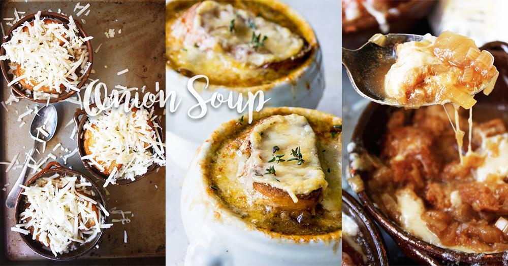 一人晚餐必學!簡易3個步驟法式洋蔥湯~看起來很高級*