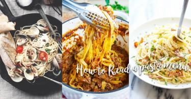 教你看懂餐牌系列 - 這麼多意大利麵 你看得明白嗎?