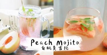 週末跟閨蜜開派對就調這杯!少女氣息滿滿的蜜桃雞尾酒 (Peach Mojito)~