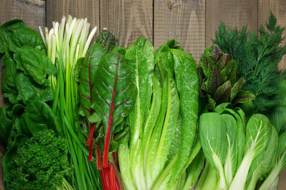 有不少绿叶蔬菜含有特别多的叶酸。