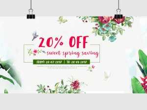Spring Sale Off – Social Media Template