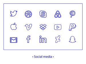 Social Media icon linear