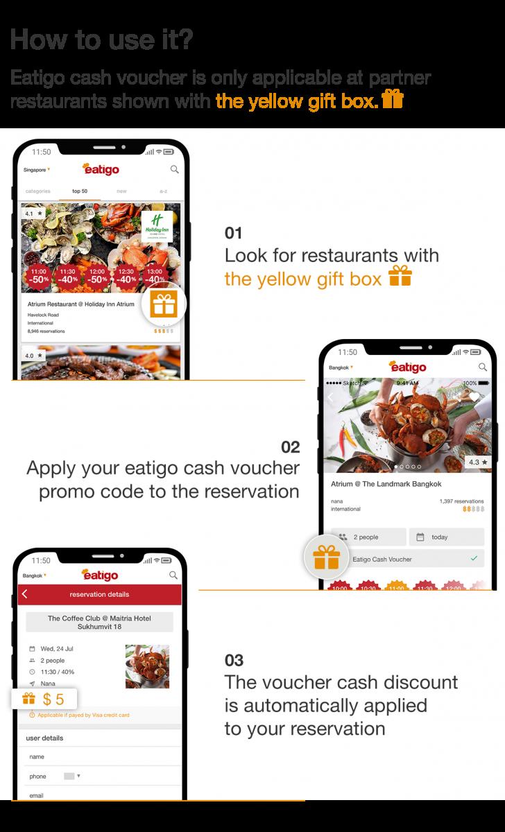 Save more on meals with eatigo cash voucher 1