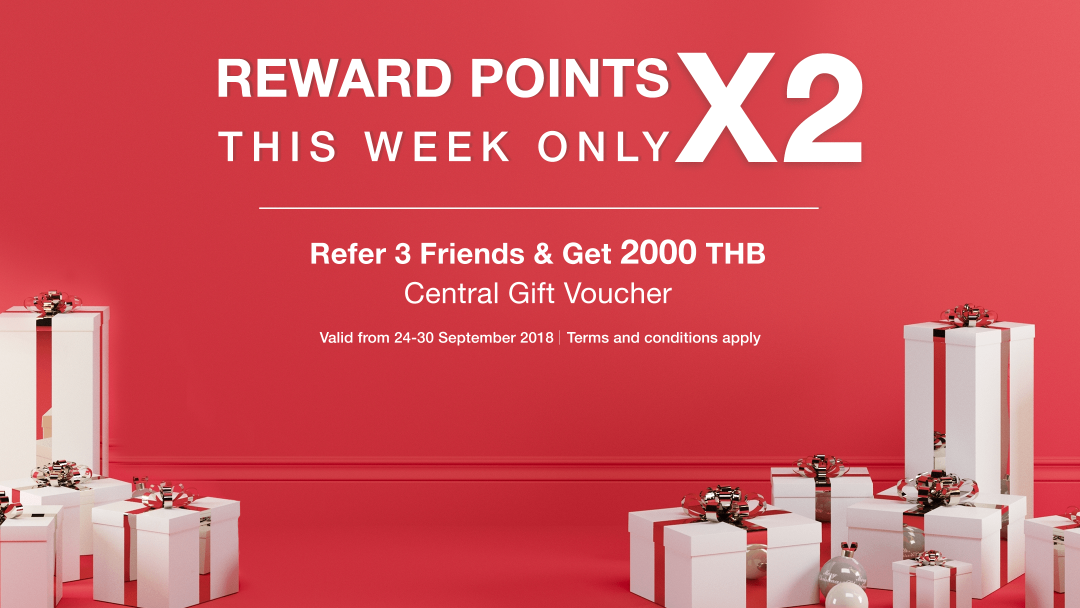 Double-Up your referral points this week! 6