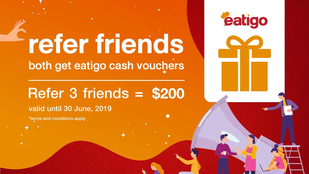 Earn more eatigo cash vouchers this April to June! 9