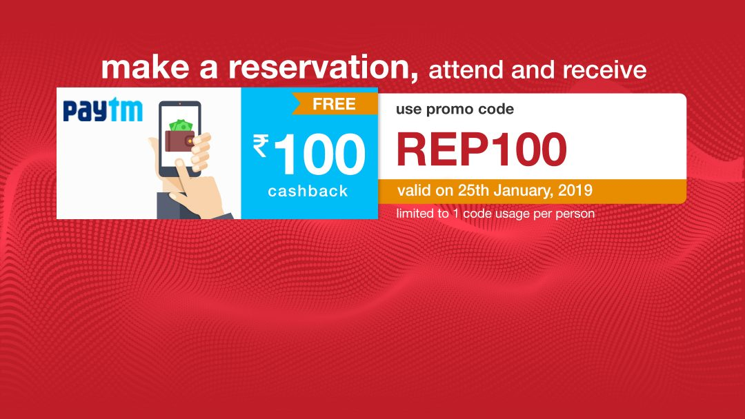 Get ₹100 Paytm voucher on your reservation on 25th Jan!! 11
