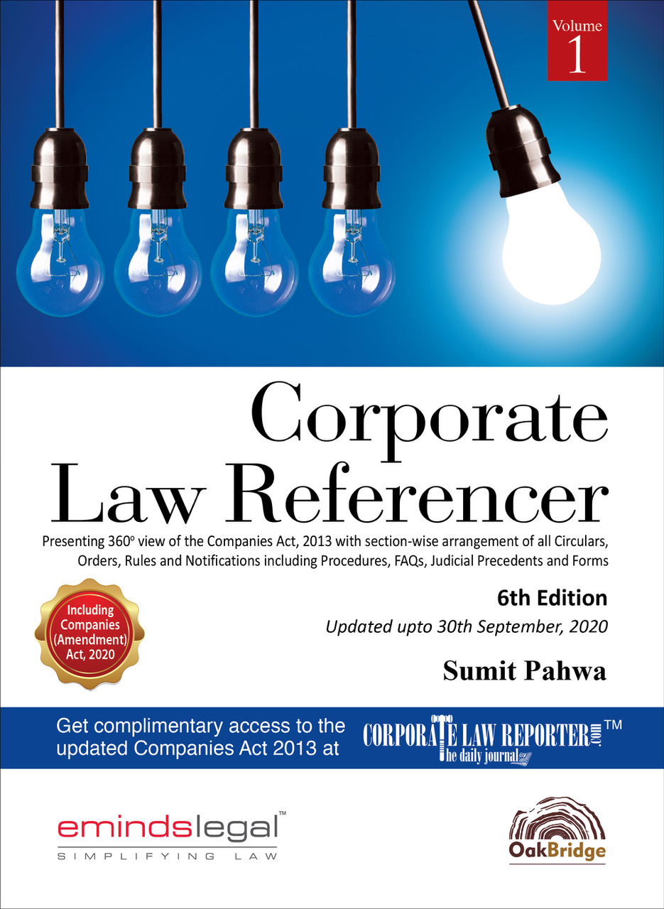 EmindsLegal (CLR) Corporate Law Referencer 2020 6th edn 11-09
